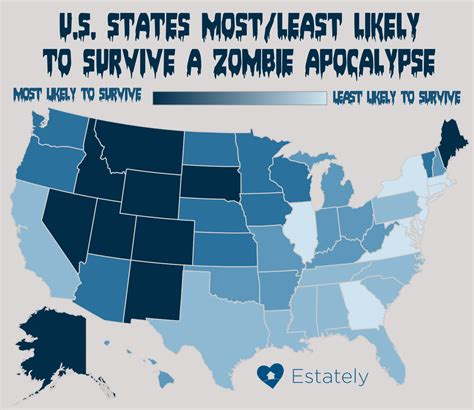 A Place Zombies Does Your State What It Takes To Survive A Apocalypse Don T Panic Lighten Up