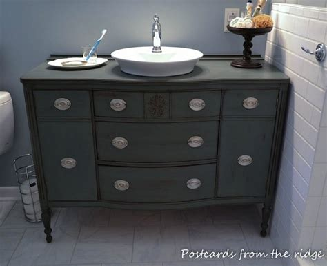 diy bathroom vanity from dresser diy dresser bathroom vanity bob vila