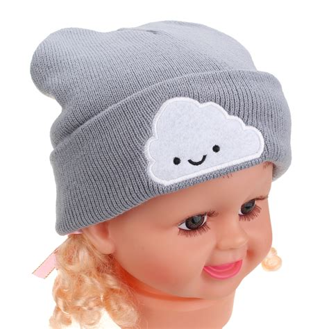 toddler knit hat baby toddler boy cloud beanie cap crochet wool