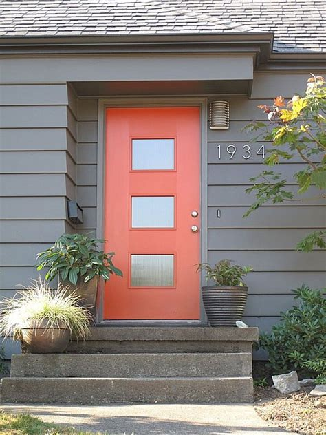 Modern Color Scheme Make A Bold Statement With A Pop Of Bold Front Door Colors