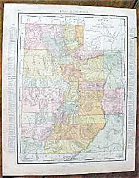 antique map utah wyoming  paper  ephemera maps