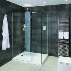 aqata spectra walk in shower enclosure with hinged panel