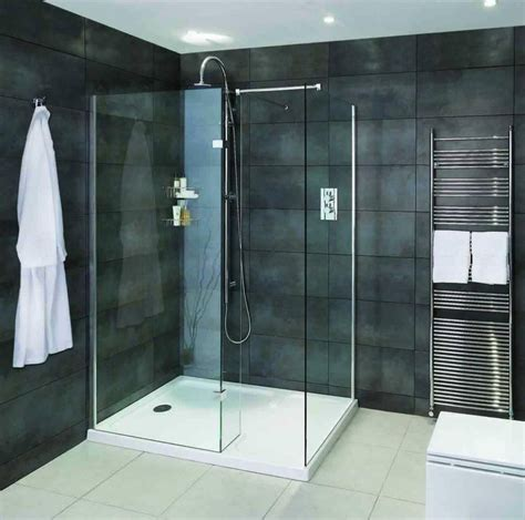 Bathroom Showers Uk Aqata Spectra Walk In Shower Enclosure With Hinged Panel Sp425 Corner Uk Bathrooms
