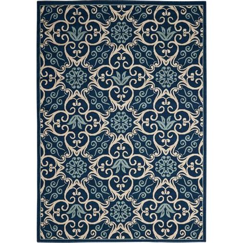 caribbean area rugs shop nourison caribbean navy indoor outdoor area rug