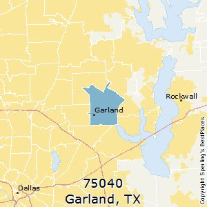garland texas zip code map best places to live in garland zip 75040 texas