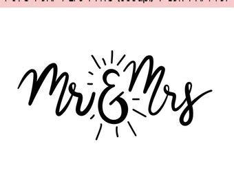 mr and mrs clipart   etsy