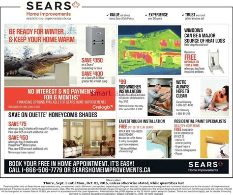 sears home improvement flyer september 1 to 7
