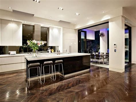 Modern Kitchen Island Ideas by Modern Island Kitchen Design Using Floorboards Kitchen