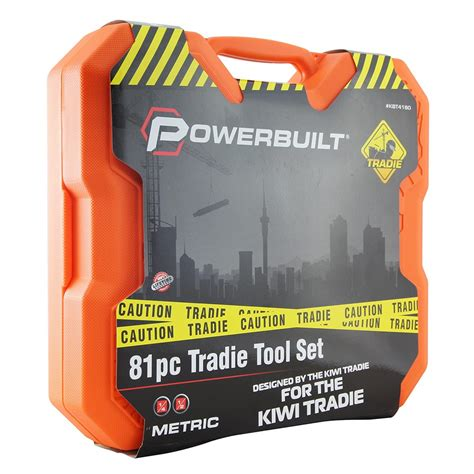 Dr 1 Set 1 4 Dr 1 2 Dr 81pc Metric Tradie Tool Set Power Built
