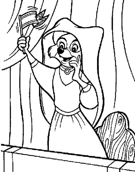 free coloring pages of robin hood pic