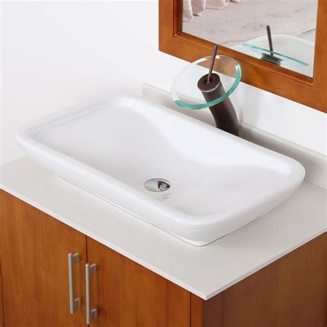 artistic bathroom sinks elite ceramic bathroom sink with unique rectangle design