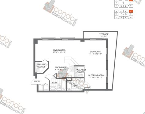 image gallery loft plans bay lofts unit 606 condo for sale in edgewater miami