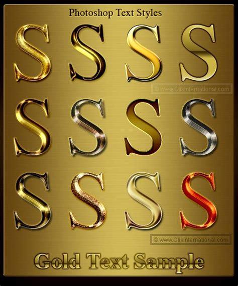 photoshop gold styles photoshop gold metallic text styles typography
