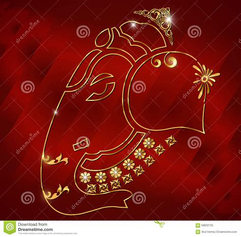design background ganpati shri ganesh card design ganesha on red satin background