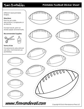 free printable football templates printable football template shapes for a football