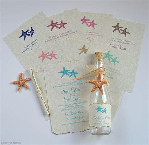 wedding invitations in a bottle seaside wedding invitations mospens studio