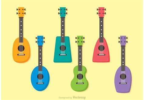 colorful ukulele colorful ukulele vectors free vector stock