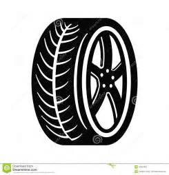 Car Tires Vector Free Tire And Wheel Stock Vector Image 47034627