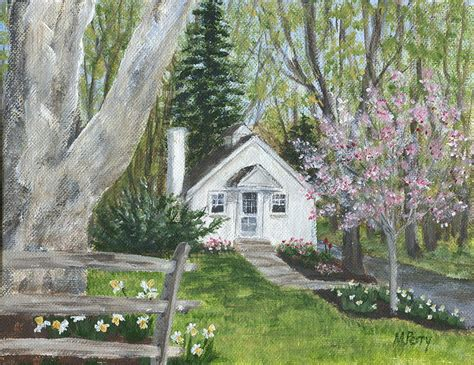 cottage in painting by margie perry