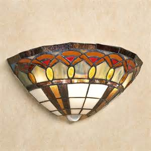 Stained Glass Wall Sconce Jeweled Stained Glass Led Wall Sconce