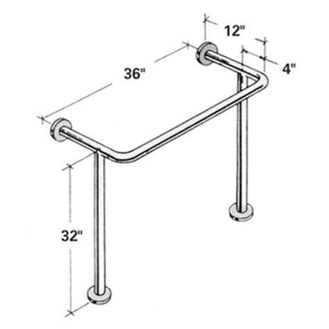 floor mounted grab bars for bathrooms bathtub floor mounted stainless steel grab bar 36 spliced for ups shipping