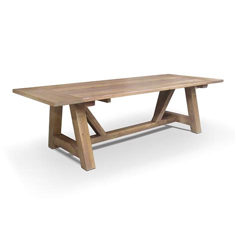 table santa santa rosa trestle table with breadboard extensions