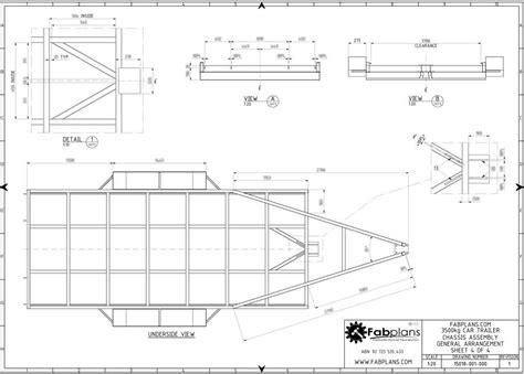 diy floor cer trailer plans 2500kg car trailer plans 14 x6 diy car trailer plans with car rs a4 163 12 30 picclick uk