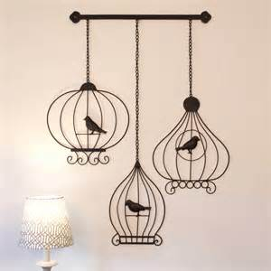 wrought iron metal wall large 52cm vintage birdcages