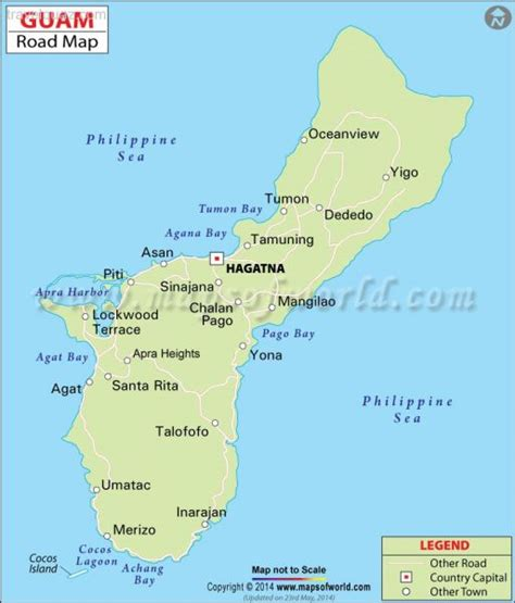 printable road map of guam guam map travelquaz com