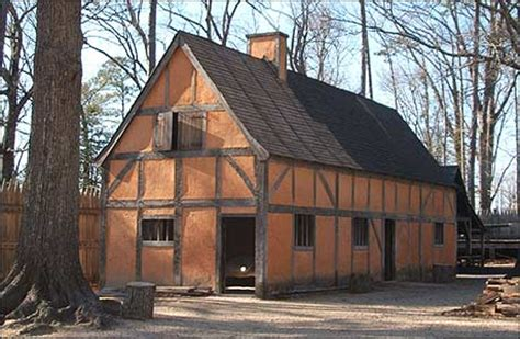 what were settlement houses how large were the houses of jamestown yahoo answers
