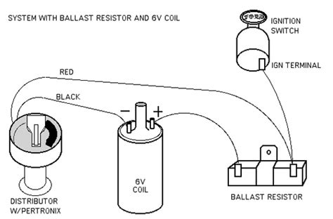 ballast resistor wiring diagram points vintage mustang faq how to install a pertronix ignitor