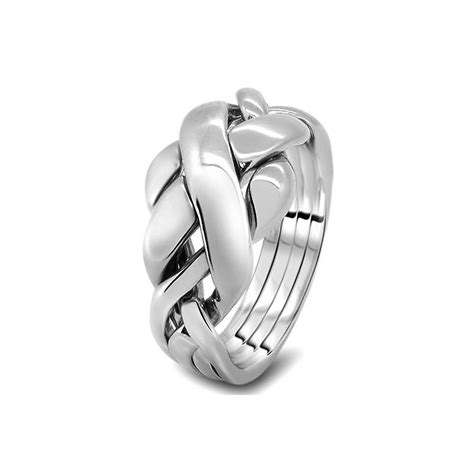 womens silver 4rc l puzzle rings creations