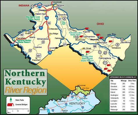 kentucky attractions map northern kentucky tourism nky greater cincy area