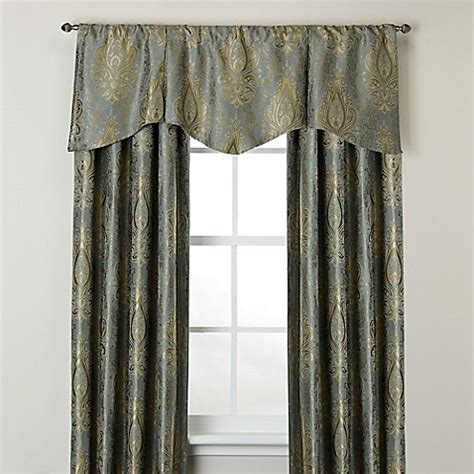scalloped curtains venezia window curtain panel and scalloped valance bed