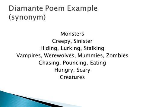 Eating Pattern Synonym | haiku tanka cinquain and diamante ppt video online