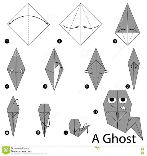 How To Make Paper Ghost For - step by step how to make origami a ghost