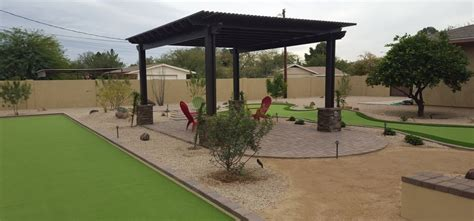 backyard bocce synthetic grass play spaces scottsdale desert crest llc