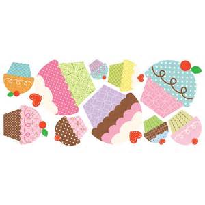 happi cupcake giant wall stickers stickers for wall com roommates wallsticker med cupcakes k 248 b her fabelfugl dk