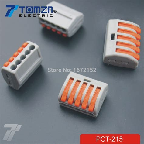 compact electrical conductors 50pcs pct 215 5 pin universal compact wire wiring connector conductor terminal block with lever