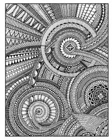between the lines an expert level coloring book peter