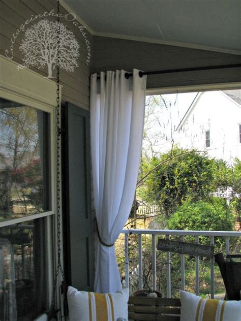 curtains for screened porch porch curtains patio the oaks and balconies