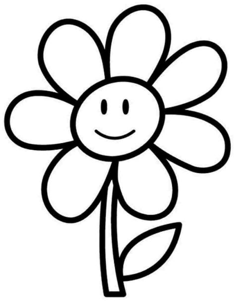 cartoon flower coloring page flowers coloring pages coloringsuite com