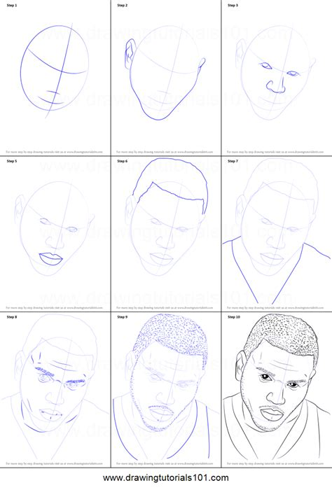 How To Draw Step By Step How To Draw Chris Brown Printable Step By Step Drawing