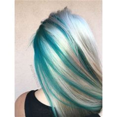 teal fine hair vigina blonde and blue streaks totally want but with pink