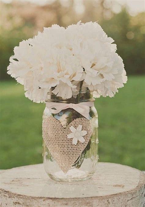 glass jar centerpieces 50 budget friendly rustic real wedding ideas hative