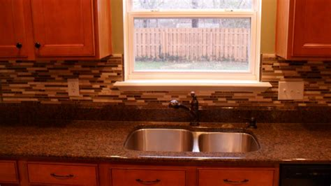 classic kitchen with glass self adhesive tile backsplash