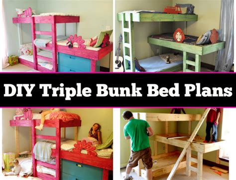 diy triple bunk beds diy triple bunk beds eye q