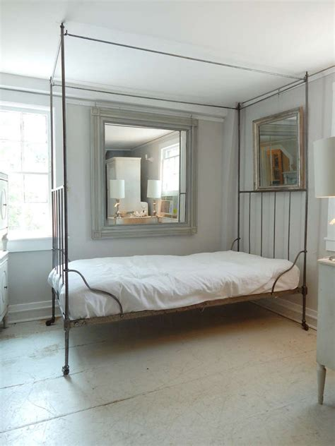 iron canopy bed french iron canopy bed at 1stdibs