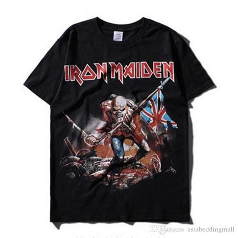 T Shirt Metal Iron Maiden iron maiden band t shirt mens heavy metal rock
