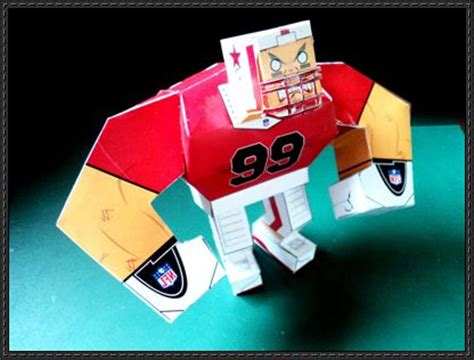 How To Make A Paper Football Player - football papercrafts page 2 of 6 papercraftsquare